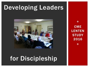 Developing Leaders for Discipleship